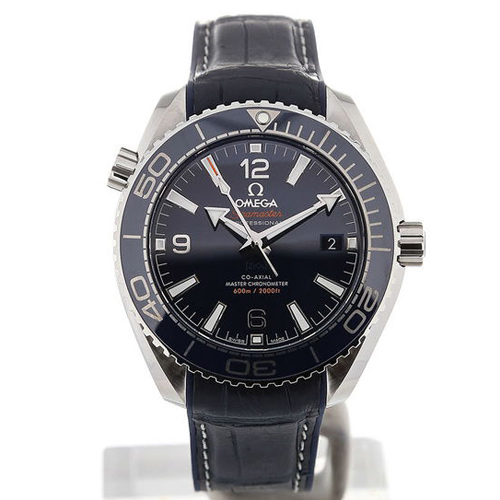 Omega Seamaster Planet Ocean 40 Blue Dial Blue Strap